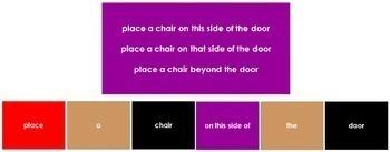 Montessori Elementary Grammar Box #5 - Prepositions (Elementary Colors)