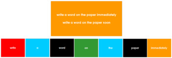 Montessori Elementary Grammar Box #6 - Adverbs (Primary Colors)