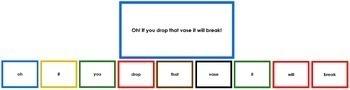 Montessori Elementary Grammar Box #9 - Interjections (color borders)
