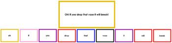 Montessori Elementary Grammar Box #9 - Interjections (Primary Color Borders)