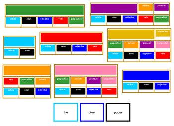 Montessori Elementary Grammar Boxes Bundle - Primary Color