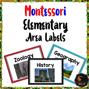 Montessori Elementary area labels