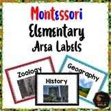 Montessori Elementary area labels