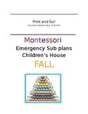 Montessori Emergency Sub Plans