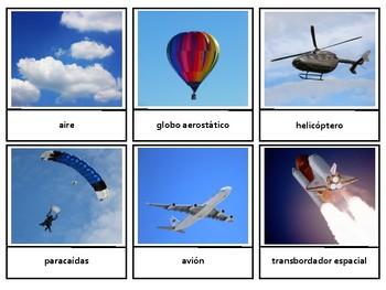Montessorilove en Español Land Water Air Transportation 3 Part Cards