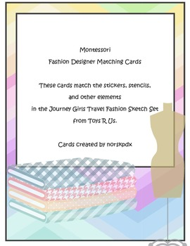 Montessori English Fashion Designer Matching Cards