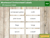 Montessori Environment Labels
