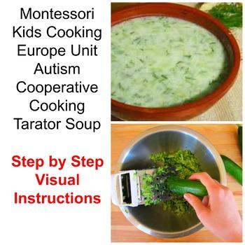 Montessori Europe Theme Cooking Tarator Soup Visual Recipe Special Ed Classroom