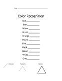 Montessori FREE Color Box Recognition Template Tracking Fo