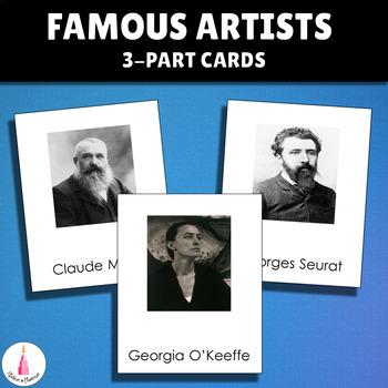 Montessori Famous Artists 3 part Cards