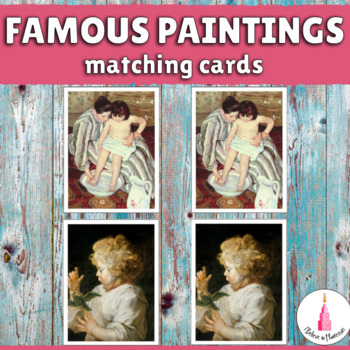 Famous Paintings Matching Cards