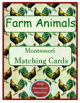 Montessori - Farm Animals Matching Cards