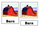 Montessori Farm Barn Nomenclature Cards