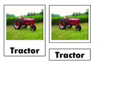 Montessori Farm Tractor Nomenclature Cards