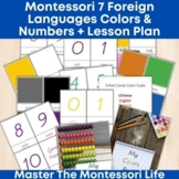 Montessori Foreign Languages Colors and Numbers Bundle + L