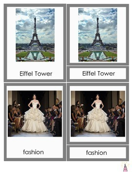 France Montessori 3-part Cards