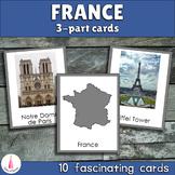 France Montessori 3-part Cards