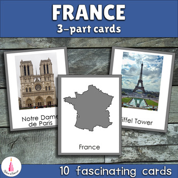 Montessori France 3-part Cards