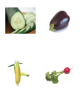 French Flash Cards (vegetables)