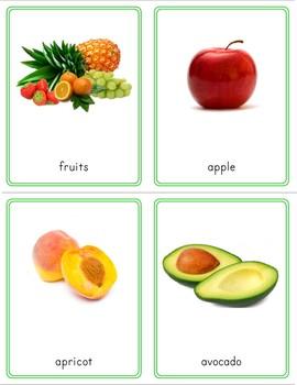 Montessori Inspired Fruit 3 Part Cards