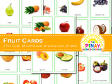 Montessori Inspired Fruit 3 Part Cards
