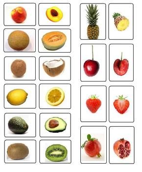 Montessori Fruit Matching Cards-Inside to Outside-Science, Botany, Vocabulary
