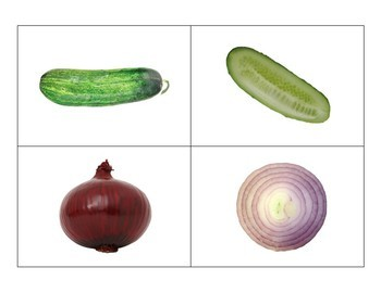 Montessori Vegetable Matching Cards-Inside to Outside-Science, Botany