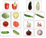 Montessori Vegetable Matching Cards-Inside to Outside-Scie