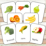 Montessori Fruits and Vegetables 3 Part Cards