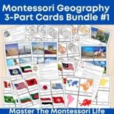 Montessori Geography 3-Part Cards Bundle #1