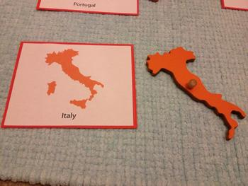 Montessori Geography - Asia map 3-parts card on australia map, north america map, central america map, russia map, europe map, part of ukraine map, the middle east map, africa map, part of the world map, south america map, the carribean map,