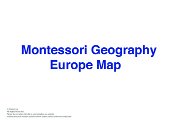 Montessori Geography - Europe Map