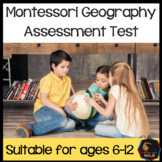 Montessori Geography Test for assessment