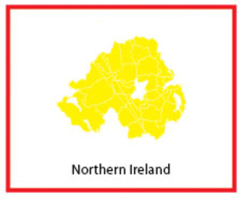 Montessori Geography - UK and Ireland map 3-parts card