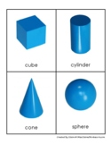 Montessori Geometric Solids Cards