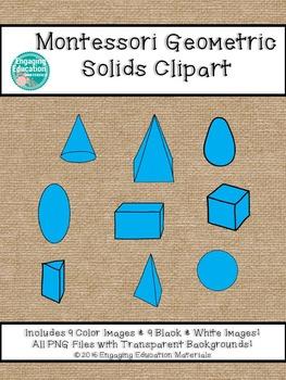 Montessori Geometric Solids Clipart
