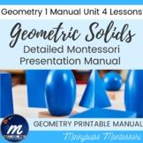 Montessori Geometry Geometric Solids Presentation & Analysis