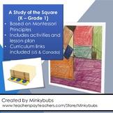 Montessori Geometry Kindergarten Grade 1 square activities