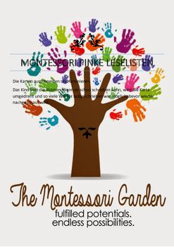 Montessori German / Deutsch pinke Leselisten