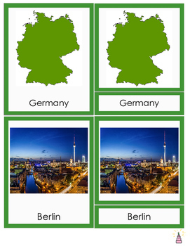 Germany Montessori 3-part Cards