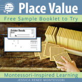 Montessori Math Place Value with Golden Beads Small Booklet Free Sample