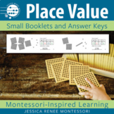 Montessori Math Place Value with Golden Beads Small Booklets