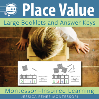 Montessori Place Value with Golden Beads (Large Booklets, Easy Assembly)