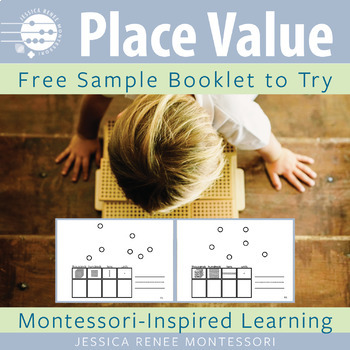 Montessori Math Place Value with Golden Beads Large Booklet Free Sample