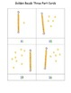 Montessori Golden Beads Three Part Cards Set A