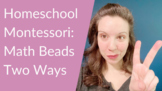 Montessori Golden Beads and Cards, Two Layouts in One lesson