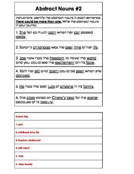 Montessori Grammar: Abstract Nouns: Three Activities & Lesson