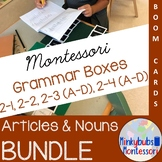 Montessori Grammar Article and Noun Boxes ALL 10 Boxes Virtual Grammar