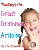 Montessori Grammar Articles