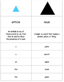Montessori Grammar Nomenclature Cards